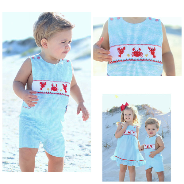 Smocked Lobster Shortall