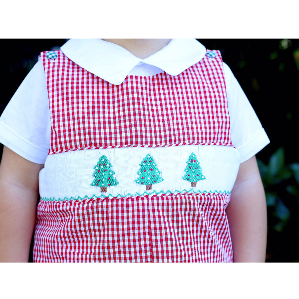Smocked Christmas Tree Longall