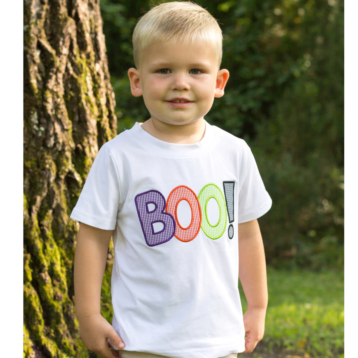 Boys White Halloween BOO! Shirt