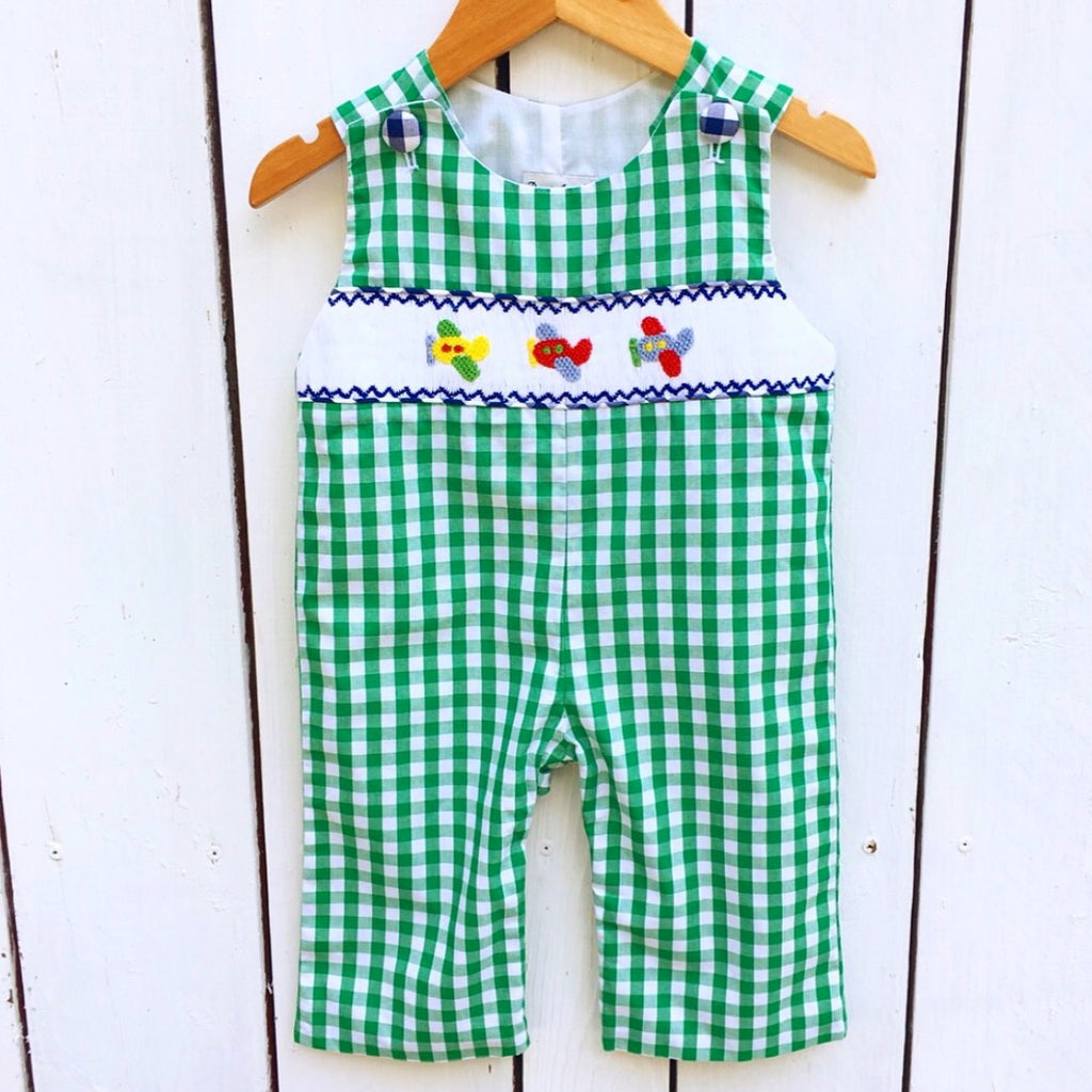 Baby Boy Smocked Airplane Longall
