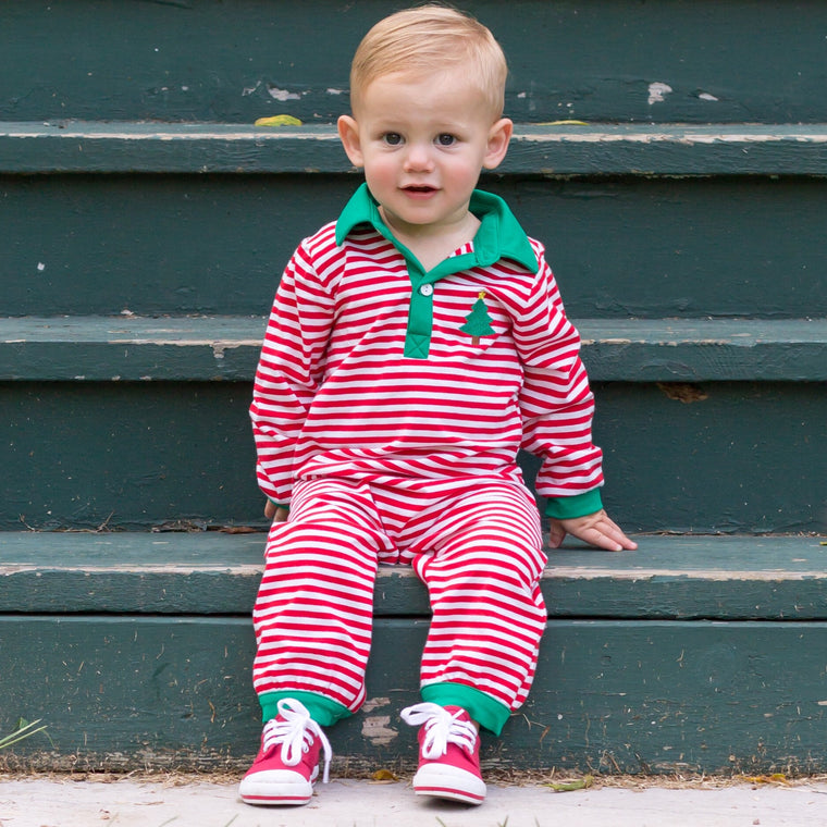 Oh Christmas Tree Knit Romper Pre-Order
