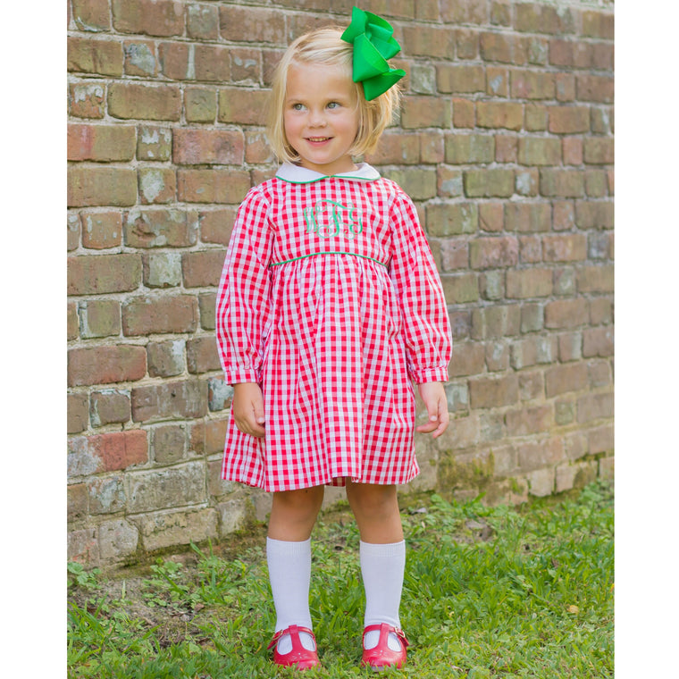 Red Gingham Dress Pre-Order