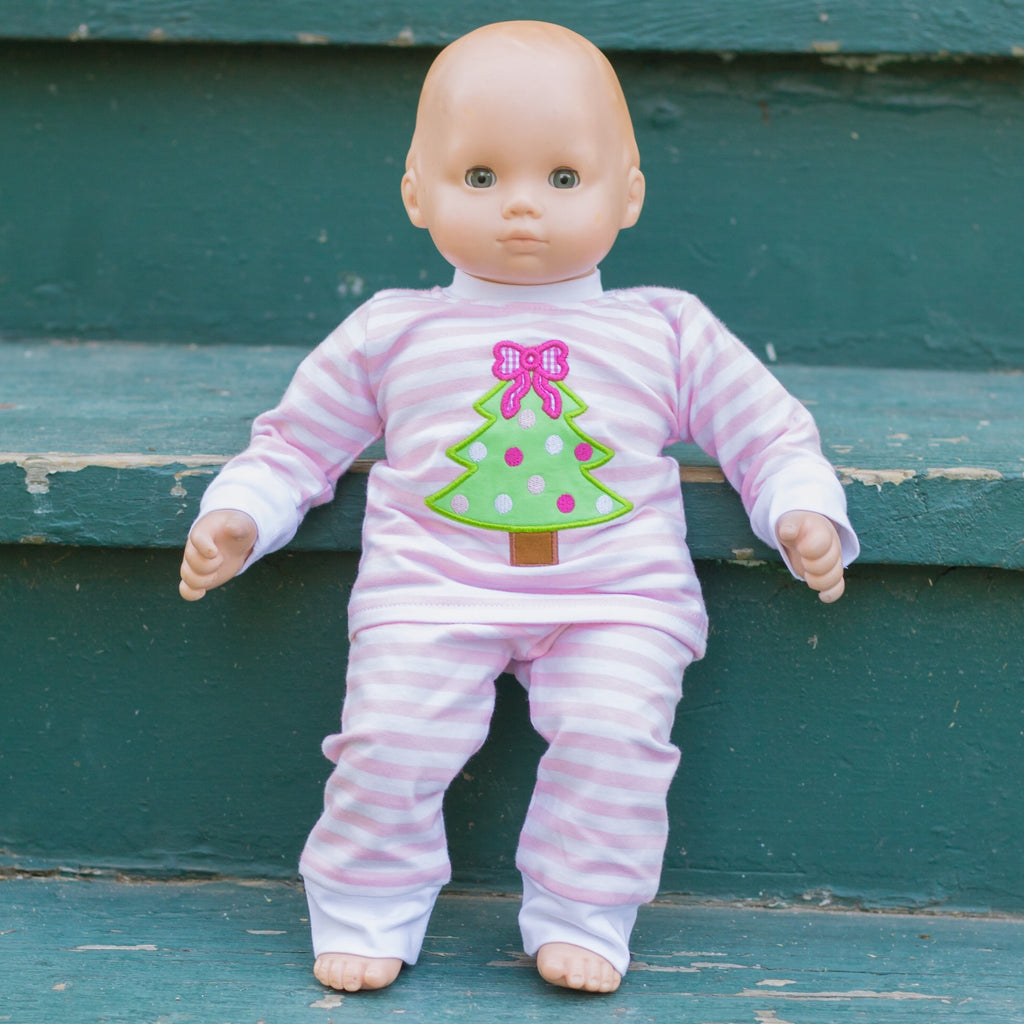 Christmas Tree Appliqué Loungewear for Dolls Pre-Order