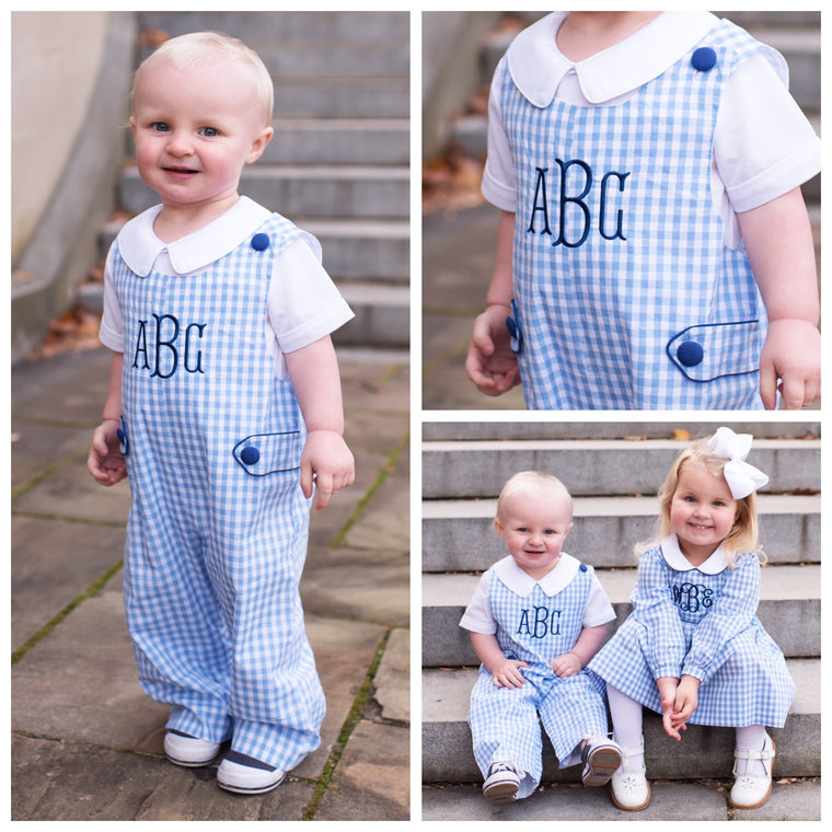 Blue Gingham Longall Pre-Order