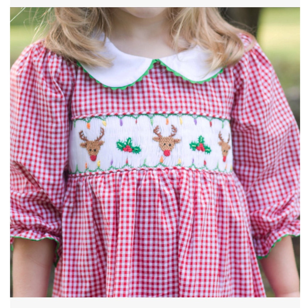 Smocked Reindeer Dress
