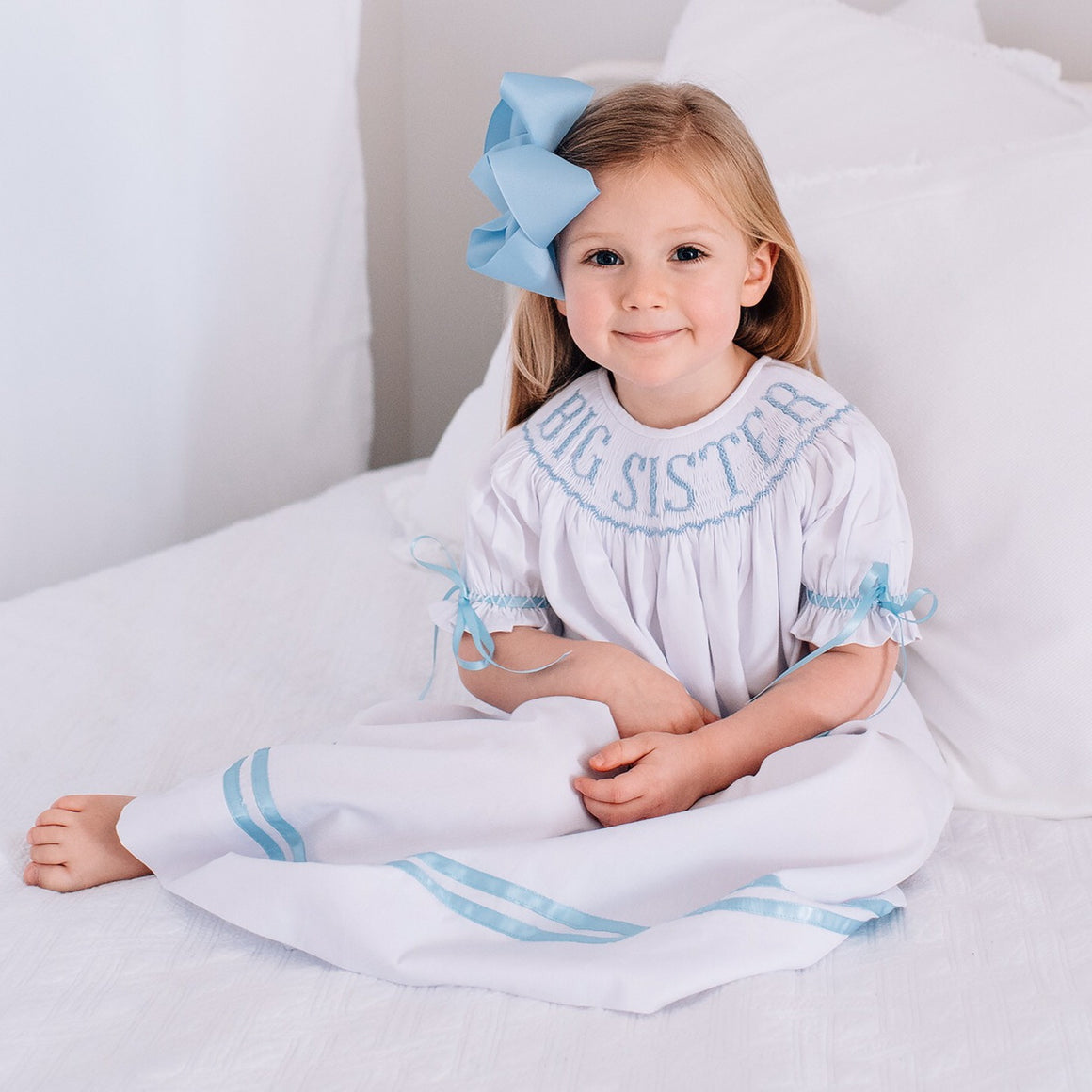 Smocked Big Sister Bishop Dress