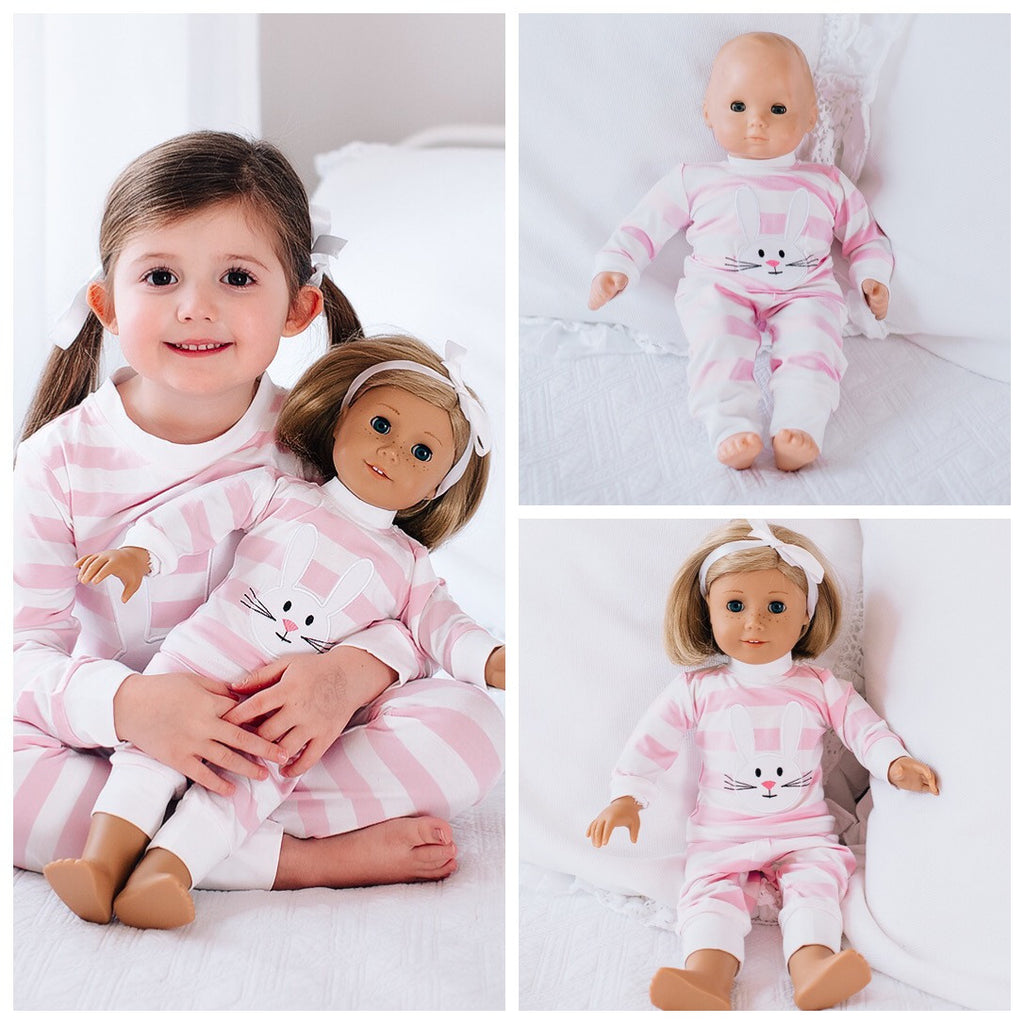 Bunny Appliqué Loungewear for Dolls Pre-Order
