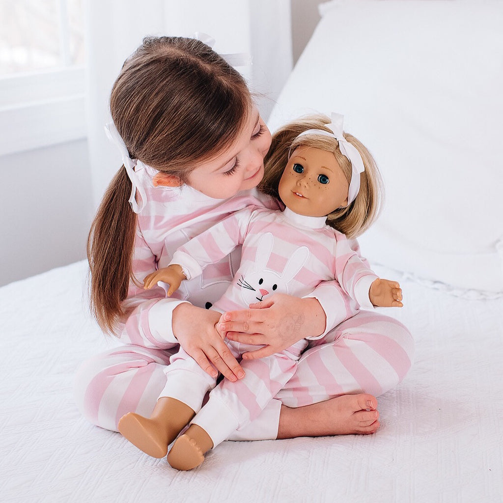 Bunny Appliqué Loungewear for Dolls