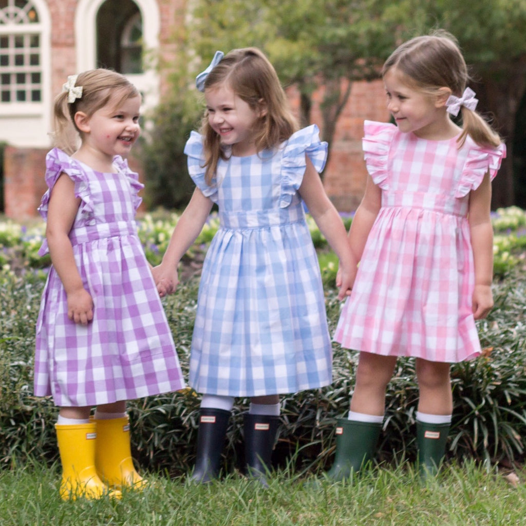 Buffalo Check PURPLE Pinafore