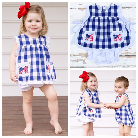 Bow Pinafore Set