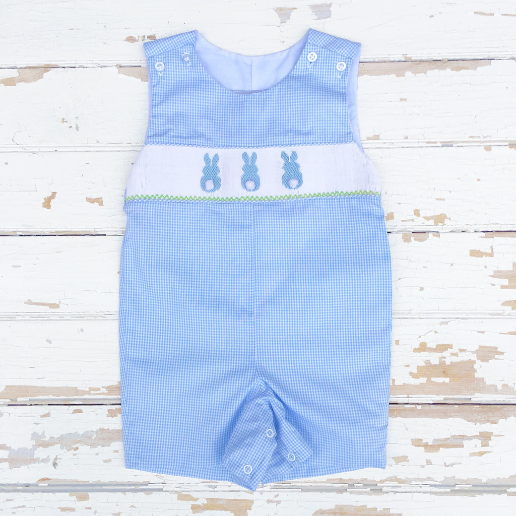 Smocked Cottontail Bunny Shortall / Jon Jon