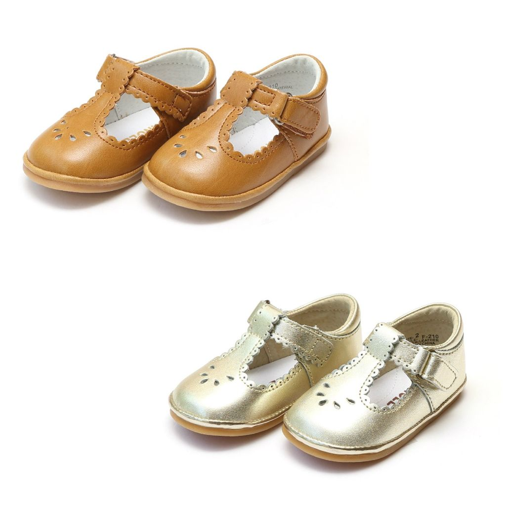 Baby Girl Angel Shoes Mustard Gold Mary Janes