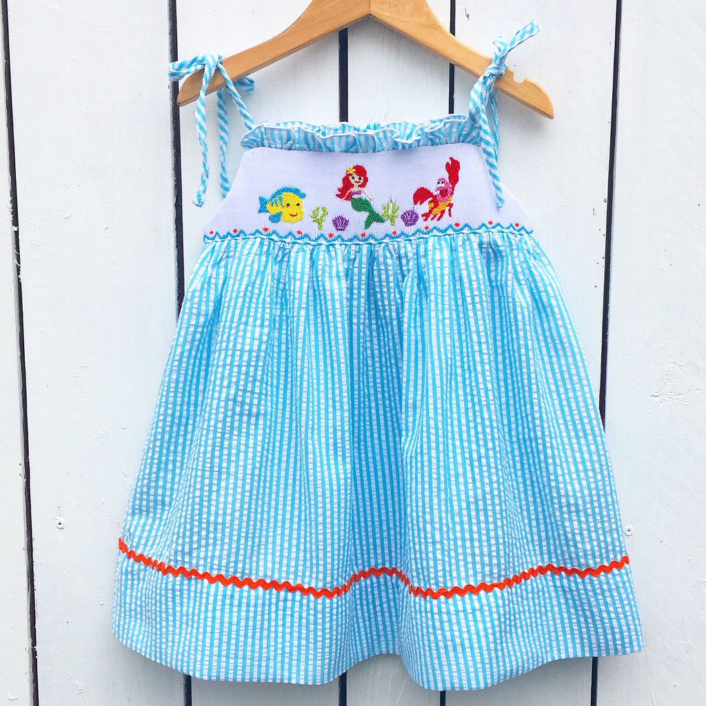 Smocked Disney Little Mermaid Dress