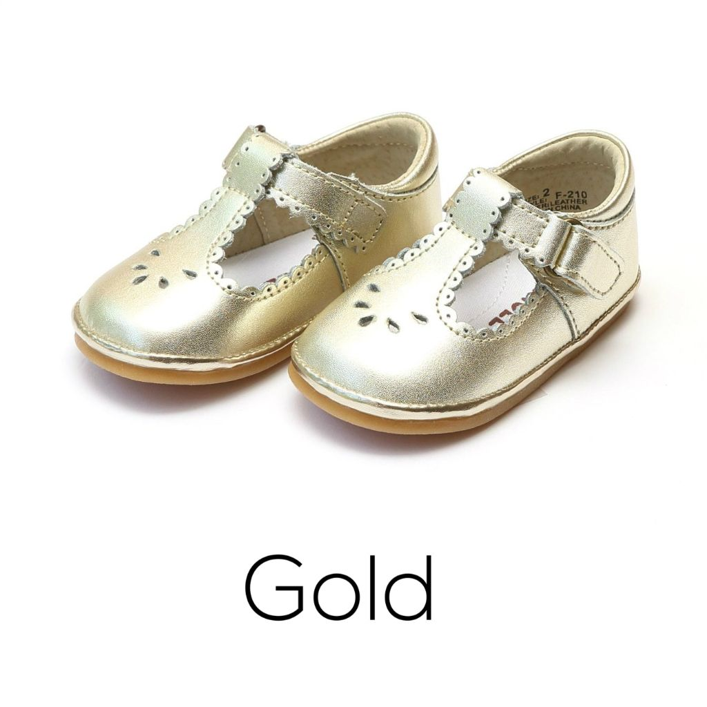Infant Baby Girl Gold Mary Jane Shoes Angels L'amour Shoes
