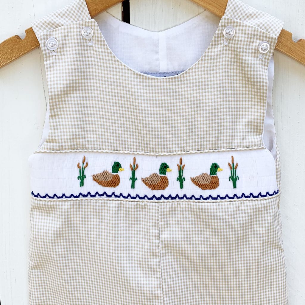 Boys Smocked Mallard Duck Longall Outfit