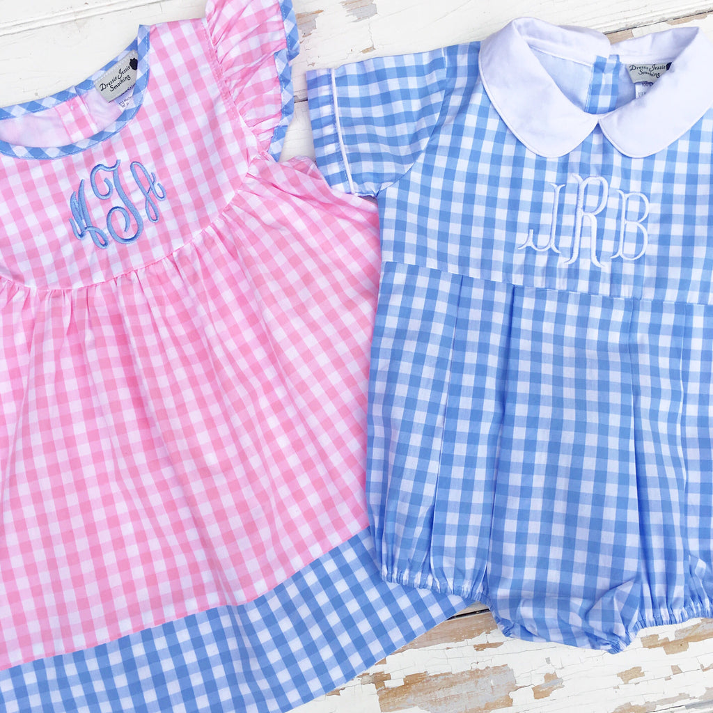 Blue Gingham Bubble