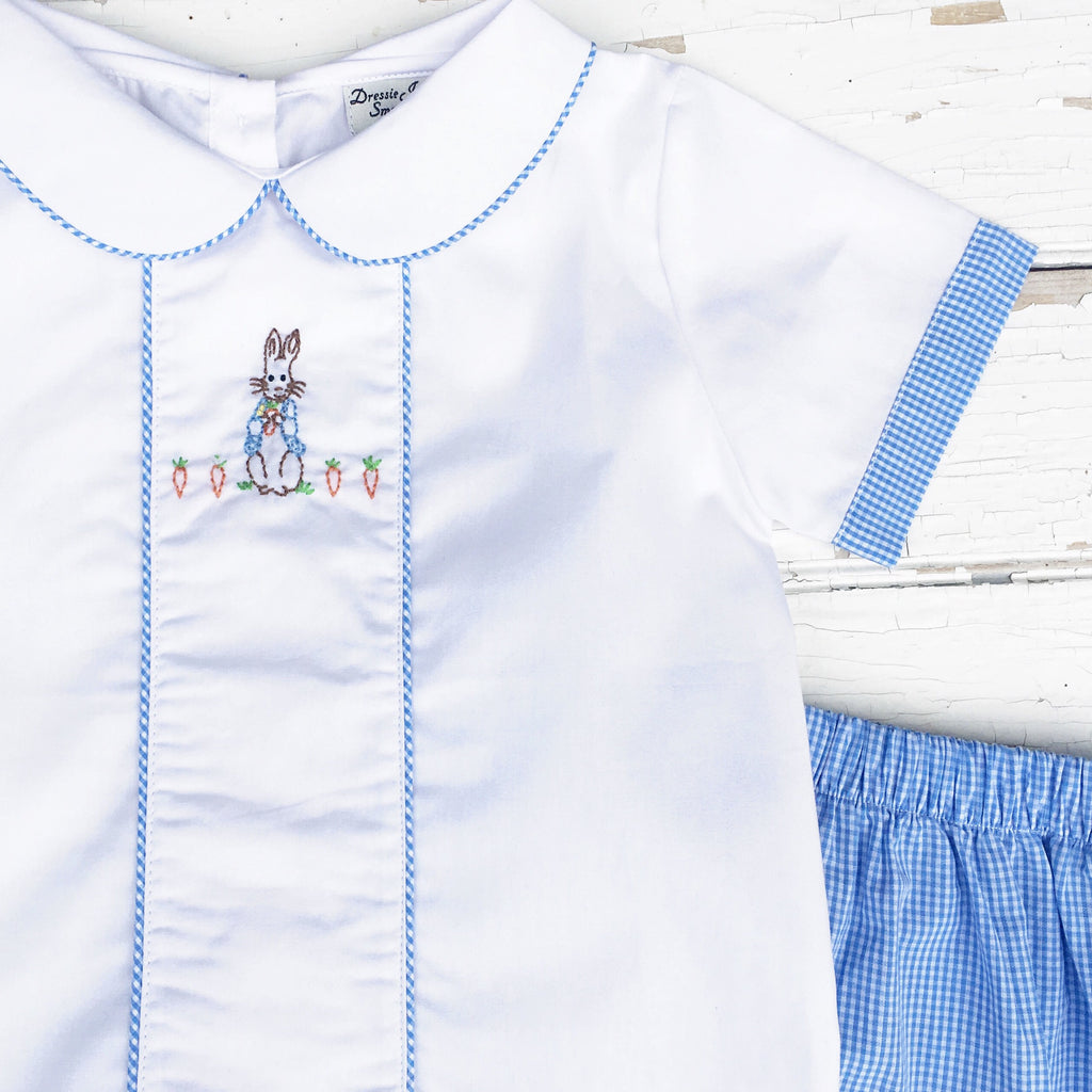 Hand Embroidered Peter Rabbit Outfit Toddler Boy Easter