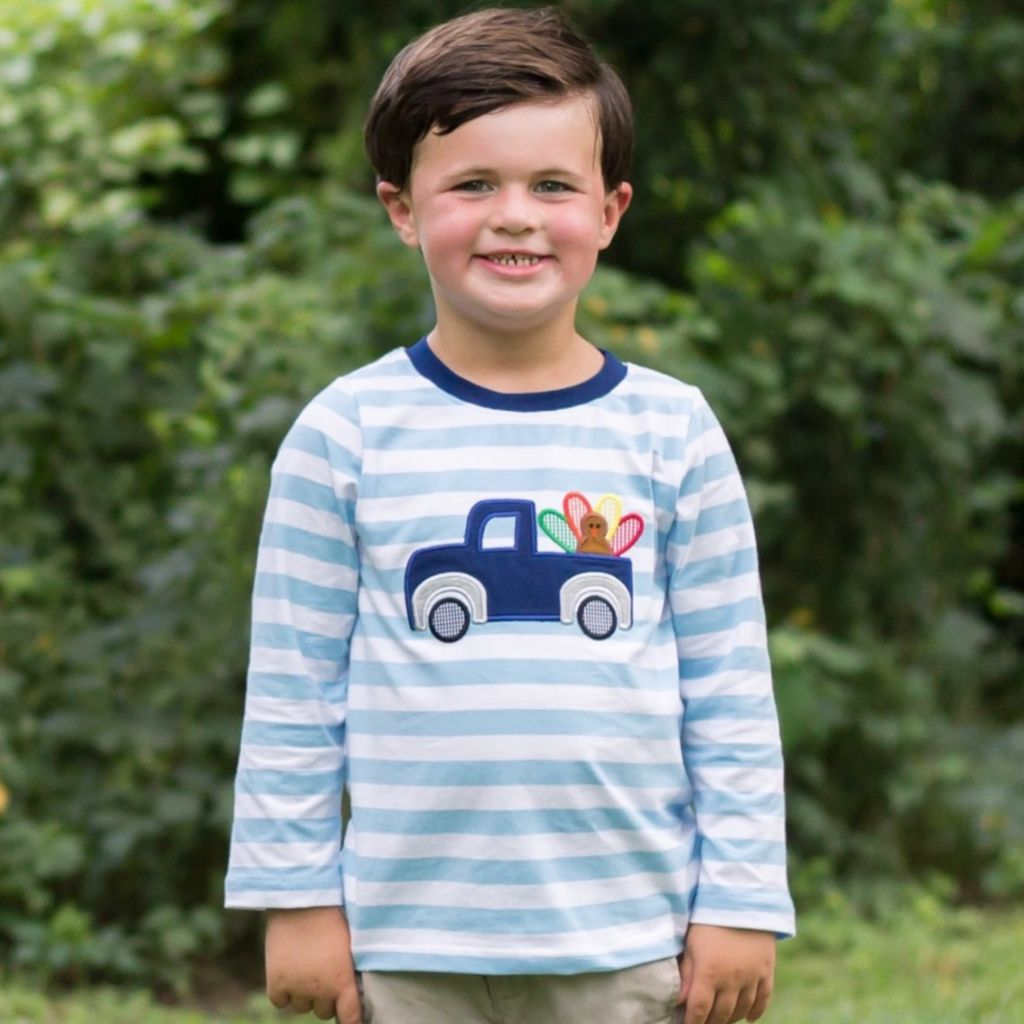 Boys Thanksgiving appliqué Shirt