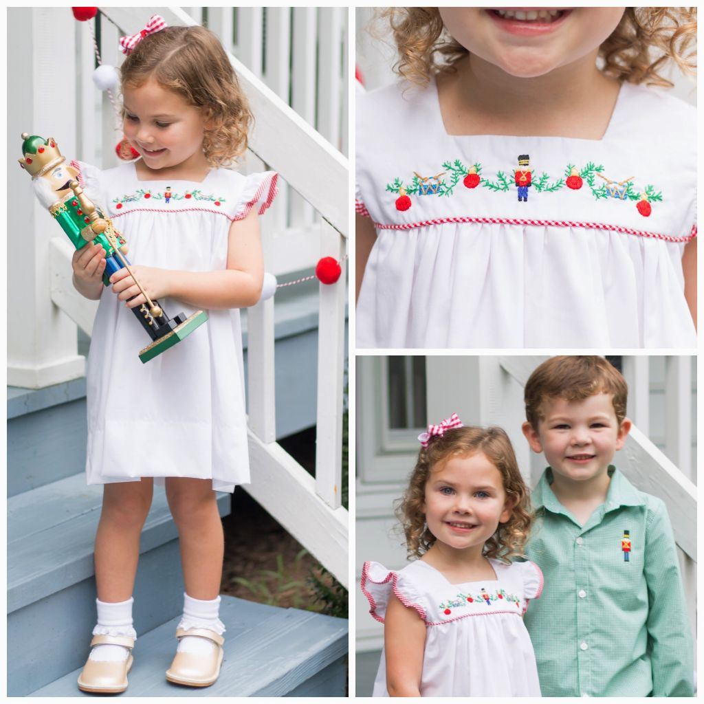 Girls Embroidered Nutcracker Dress for Christmas