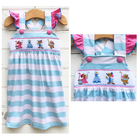 Smocked Cinderelly's Mice Dress