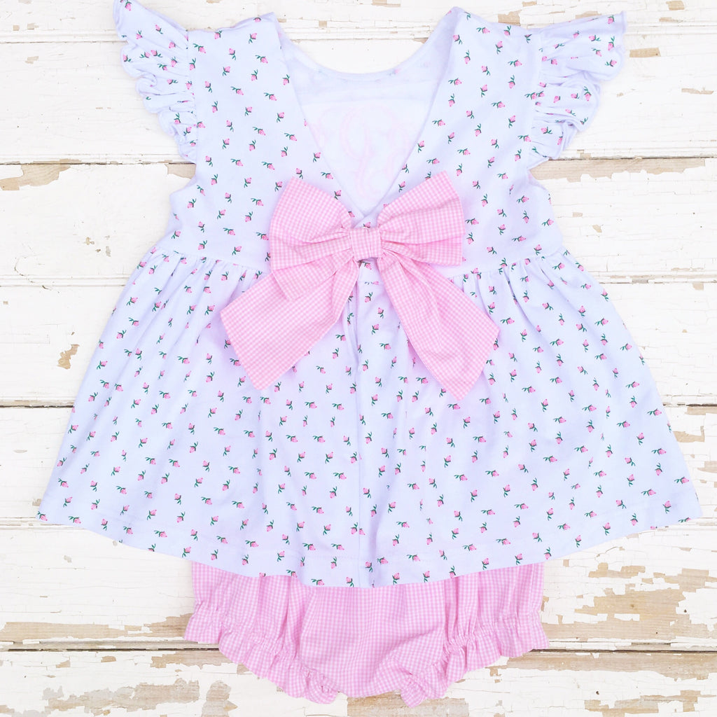 Bow Back Bloomer Set Baby Toddler Girl Clothing