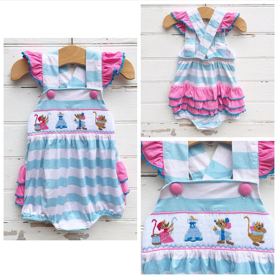 Disney Cinderella Smocked Bubble Outfit