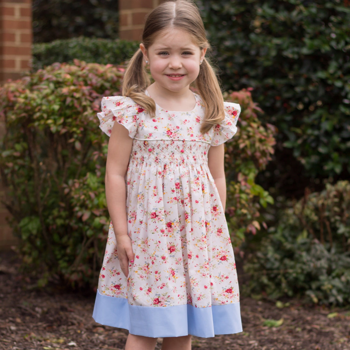 Country Meadows Smocked Floral Dress Girls Easter Dress