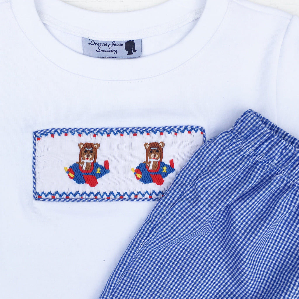 Boys Blue Gingham Shorts Classic Southern Clothing