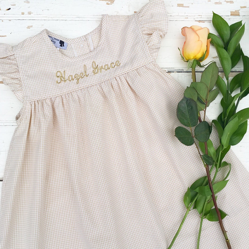 Free Monogramming Girls Dress Beach Pictures Name Embroidery