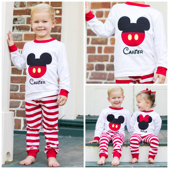 Boys Mickey Mouse Loungewear Monogrammed