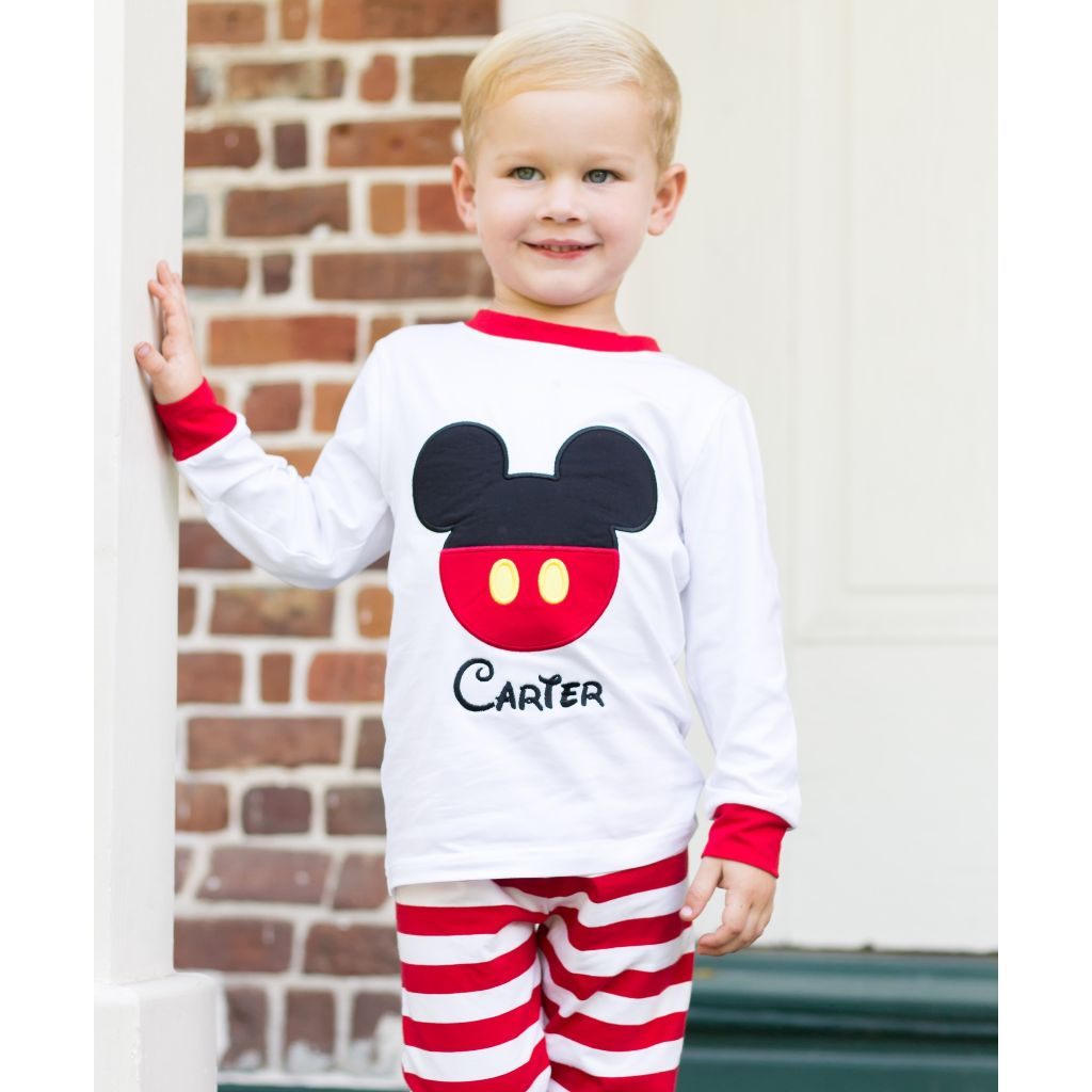 Boys Disney Mickey Mouse Ears Pajamas Personalized