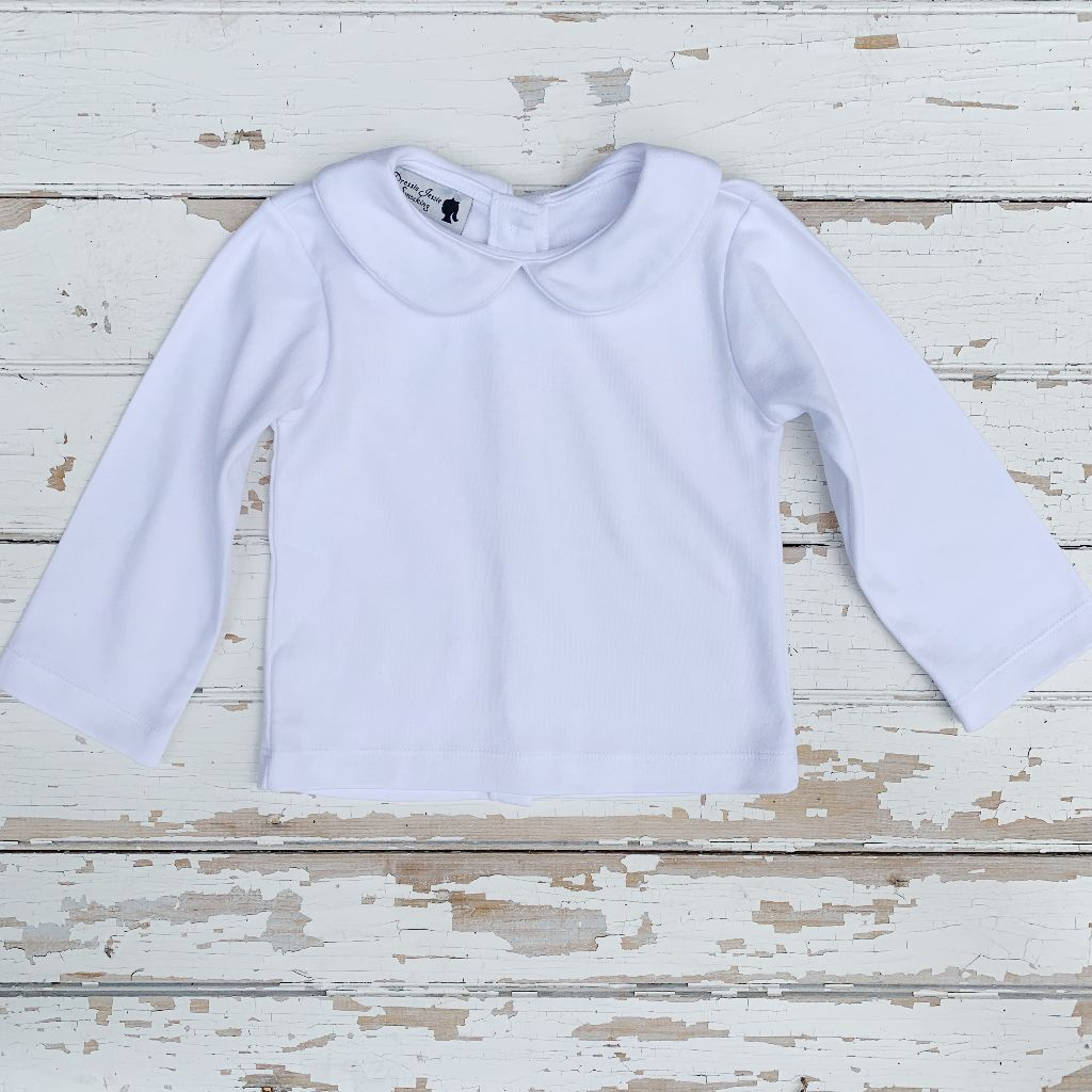 Unisex White Cotton Layering Shirt
