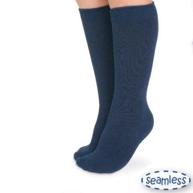 Jefferies Navy Blue Knee Socks