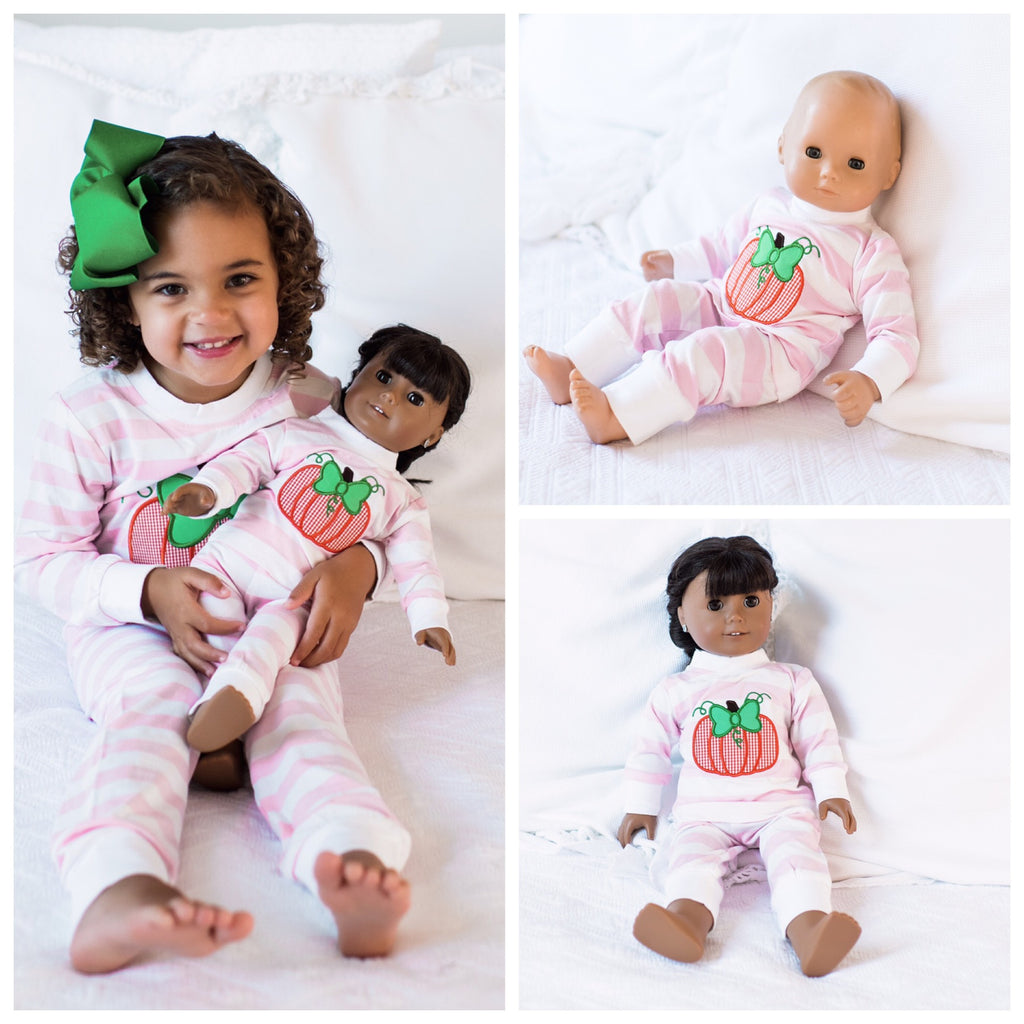Pumpkin Appliqué Loungewear for Dolls Pre-Order