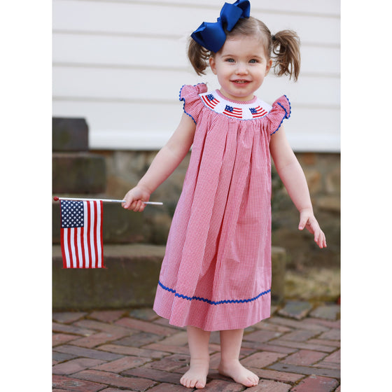 Smocked American Flag Bishop