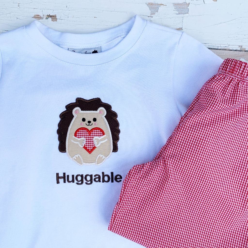 Huggable Hedgehog Valentine Pant Set