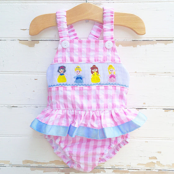 Smocked Princess Swimsuit - Dressie Jessie Smocking