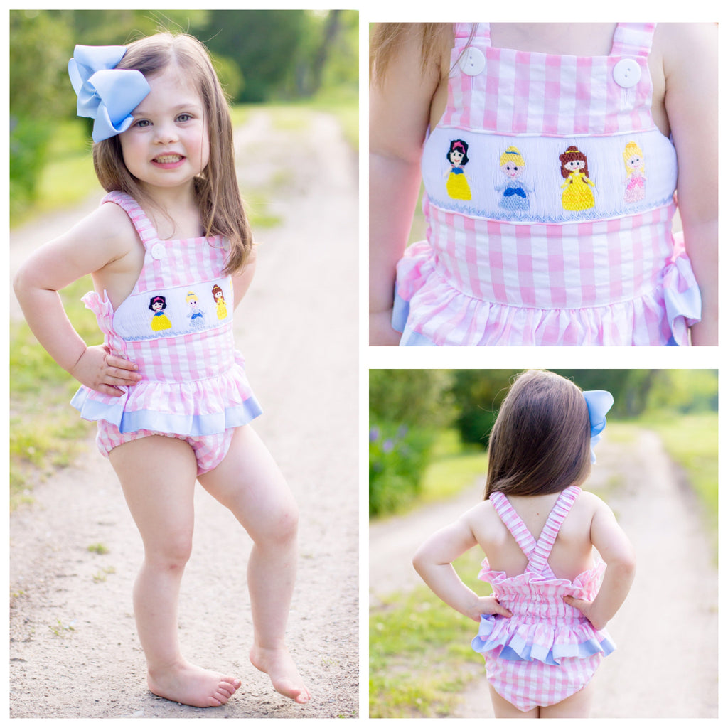 Smocked Princess Swimsuit