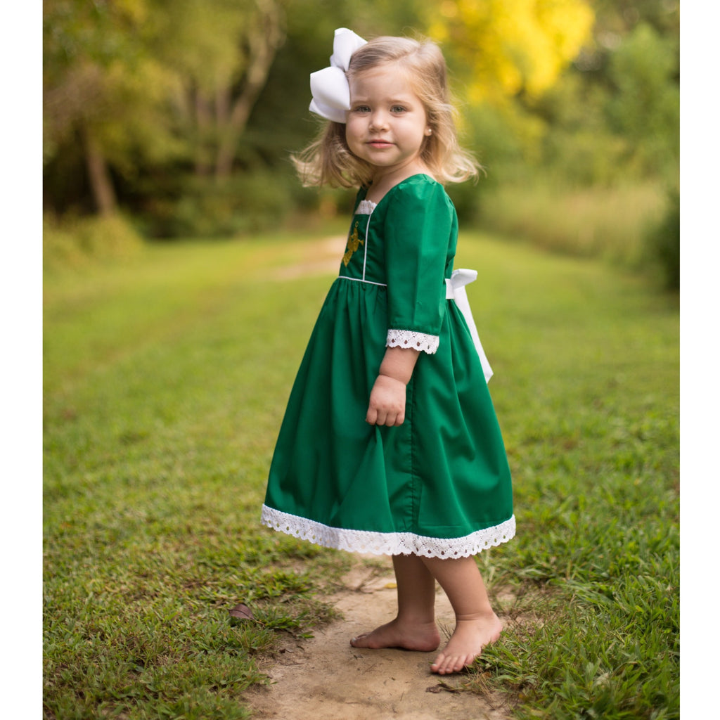 Green Girls Christmas Angel Dress