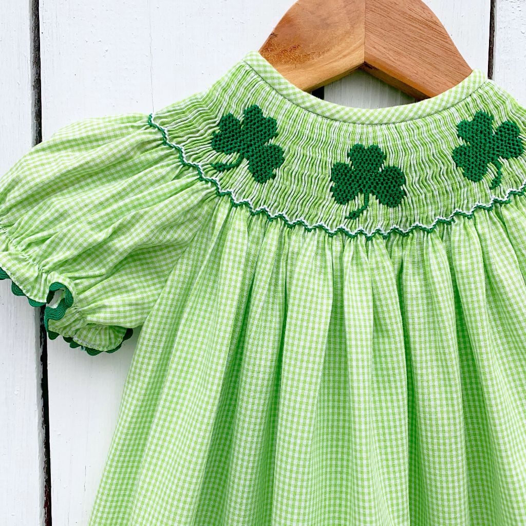 Girls St. Patrick's Day Smocked Clothing