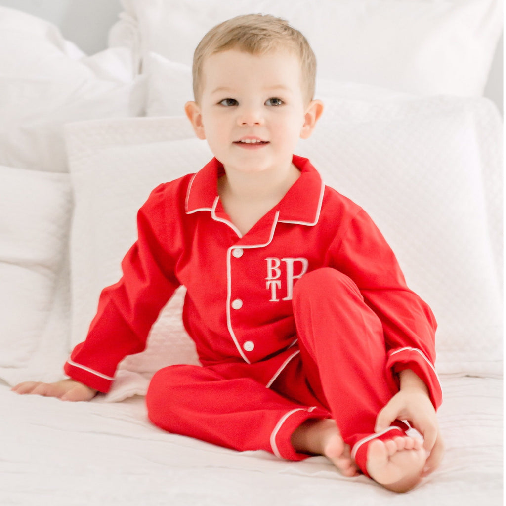 Red Knit Loungewear