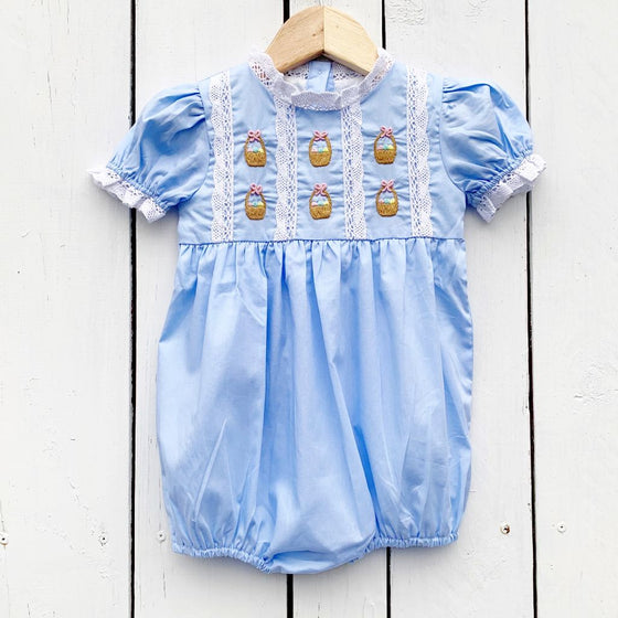 Baby Infant Toddler Girls Blue Easter Bubble