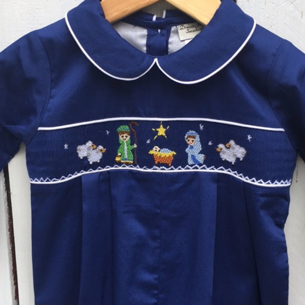 Smocked Nativity Romper
