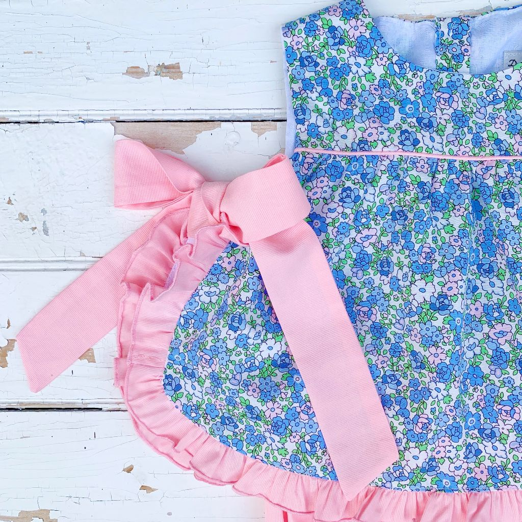Liberty Floral Open Side Top and Pink Bloomers