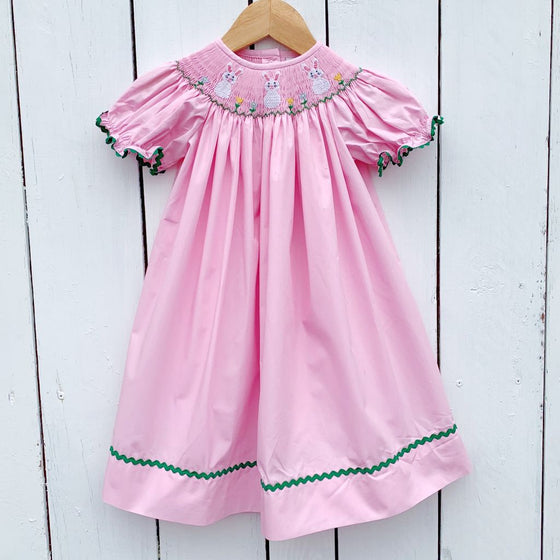 Girls Smocked Easter Dress