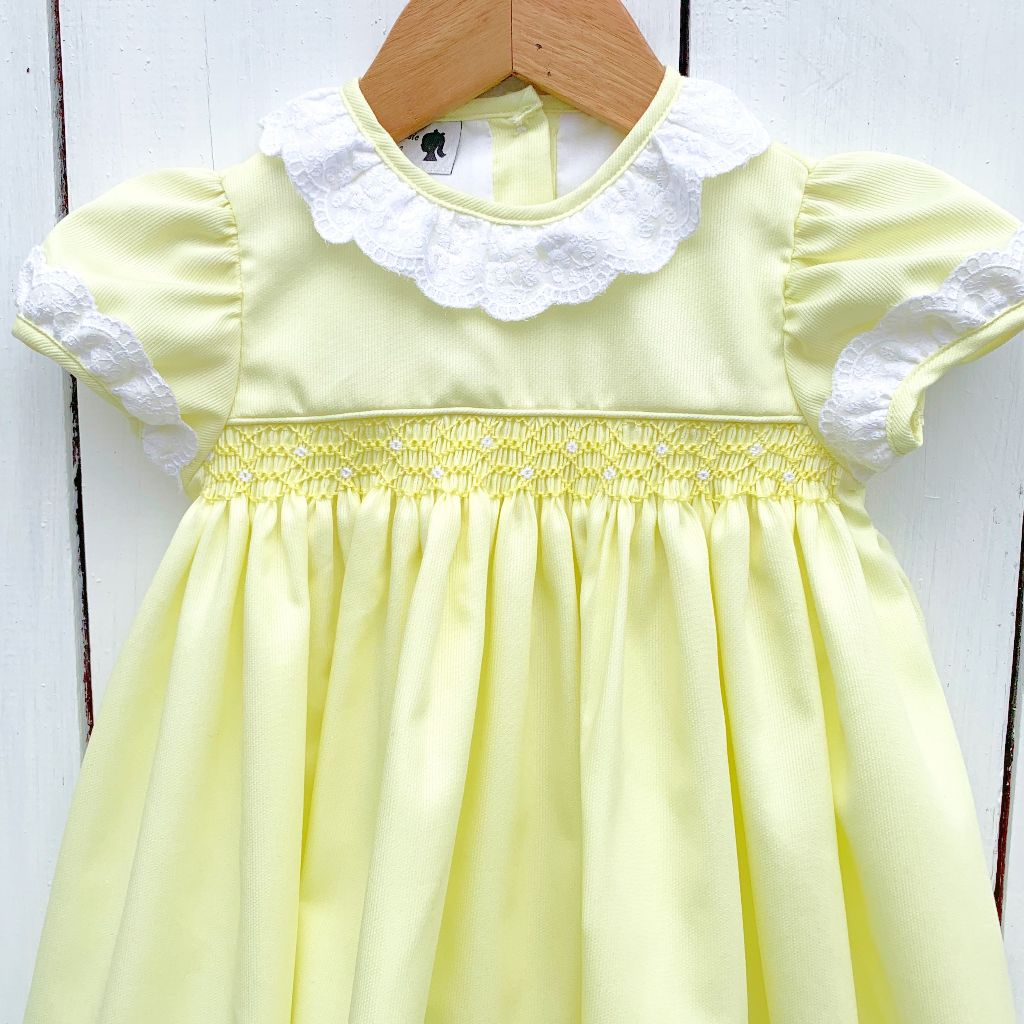 Girls Heirloom Dress with Lace Collar