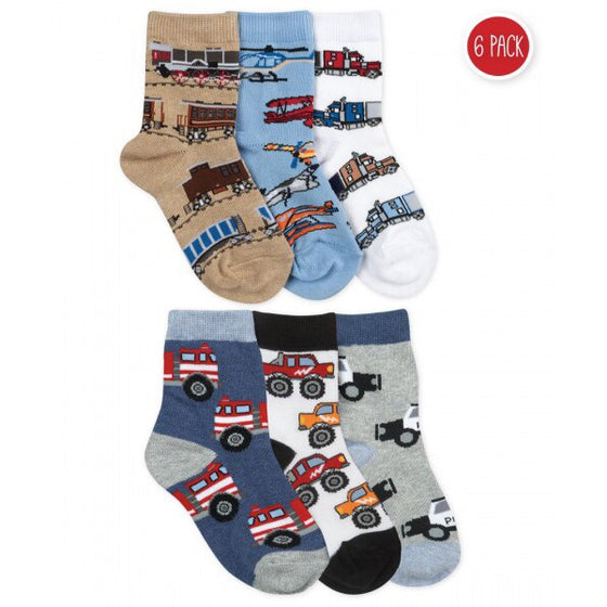 Jefferies Socks Trucks Cars Airplanes for Boys