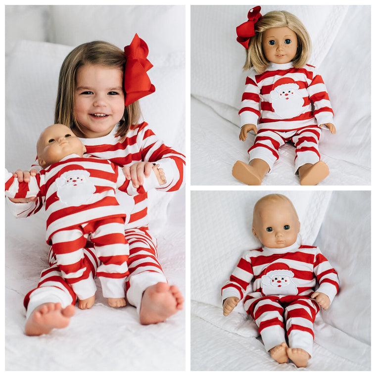 Santa Appliqué Loungewear for Dolls Pre-Order