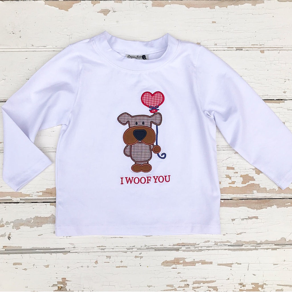 I WOOF YOU Valentine's Shirt