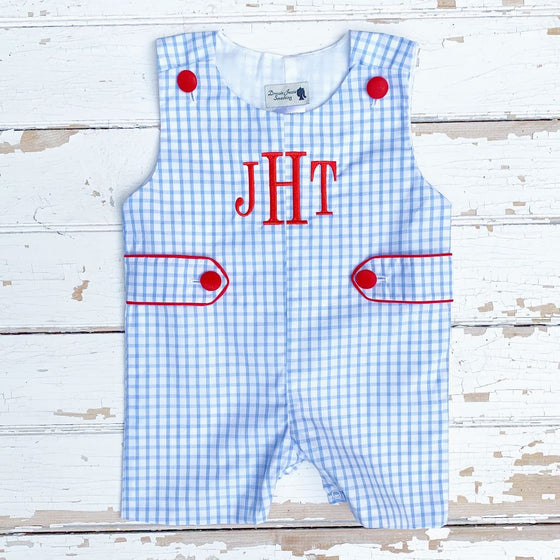 Boys July 4th Jon Jon Red white Blue Shortall